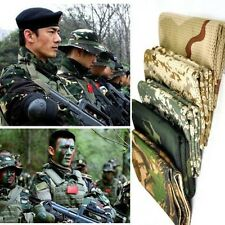 Tactical Camo Mesh Neck Scarf Scrim Net Sniper Face Veil Airsoft Army Wargame