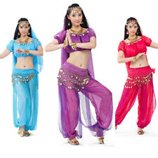 Bollywood Indian Belly Dance Costume Top Pants Outfit Halloween Fancy Costume