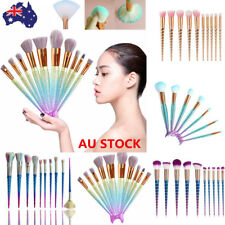 10PCS Screw/Mermaid Makeup Face Powder Brushes Foundation Cosmetic Beauty Set