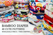 WHOLESALE HIGH QUALITY BAMBOO BABY RE-USABLE CLOTH DIAPER NAPPY+BAMBOO INSERTS