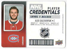 17/18 UD MVP HKY PLAYER CREDENTIALS LEVEL 1 ACCESS CARDS NHL-XX U-Pick From List
