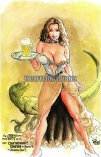 Cavewoman Bar Wench Signed Print by Budd Root