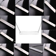 Fashion Stainless Steel Bar Star Sign Constellation Pendant Necklace Women Gift