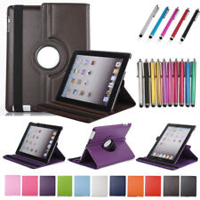 Case Smart Leather Shell For Apple iPad 2 3 4 5 6 Air Mini Rotating Flip Cover