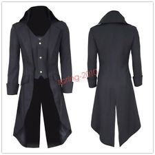 Steampunk Military Tailcoat Mans Coat Long Jacket Gothic Party Suit