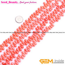 Drop Coral Stone Beads For Jewelry Making Gemstone Beads Strand 15''