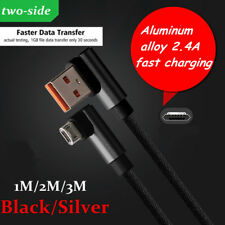 3/6/10FT High Speed New Braid 2.4A Micro USB Data Charger Cable For Cell Phones