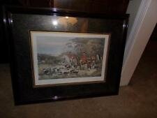 """FOX HUNT PRINT FRAMED MATTED  """" ON THE SCENT"""""""