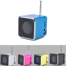 1 * Portable LCD USB Mini Stereo MP3 Music Player Speaker FM SD TF Rechargeable