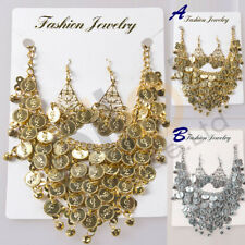 Metal Necklace Gypsy Egyptian India Belly Dance Necklace and Earring Jewelry Set