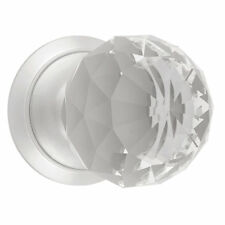 Dempsey & Locke Unsprung Glass Mortice Knobs Pair  65mm