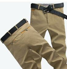 Korean Fashion Men's Straight Casual Pencil Pants Slim Fit Stretch Trousers