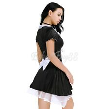Sexy French Maid Fancy Dress Costume Ladies Outfit Hen Halloween Party Naughty