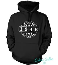 Made In 1946 Genuine Mens Womens Hoodie 68 Birthday Present Funny Gift