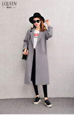 Womens Casual Side Slit Overcoat Long Jet Pocket Slim Fit Trench Hot Sale