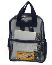 """17"""" Clear Backpack Completely Transparent PVC See through Backpack Bookbag"""