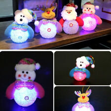 Christmas Gift Santa Claus Snowman Lovely Night Lamp Decor Party Children Exotic