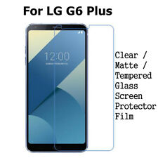 Tempered Glass/ Clear/ Matte Anti-Glare Screen Protector Film For LG G6 Plus Lot