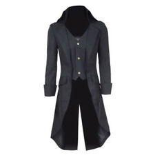 Steampunk Military Tailcoat Men Coat Long Jacket Gothic Suit Cosplay Outwear