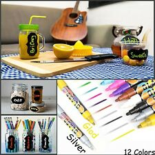 Multi-Color Chalk Markers & Metallic Colors-Pack of 12 chalk pen- For Chalkboard