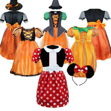 Halloween Girls Kids Princess Party Costume Cosplay Fancy Dress Witch Hat Outfit