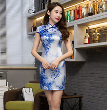 Retro New Slim Chinese Dress Women' Evening Mini Silk Dress Cheongsam Qipao...