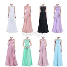 US_Women Formal Wedding Bridesmaid Long Evening Party Prom Gown Cocktail Dress