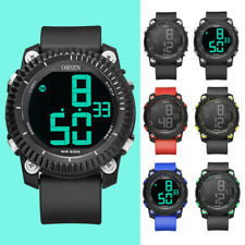 OHSEN Men's Sport Watch Silicone Digital Led Wristwatch Alarm Watches Xmas Gifts