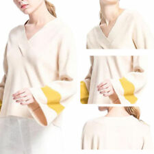 A Women Simple Sweater Top Loose Long Sleeve Knit Sweater Pullover V-neck Blouse