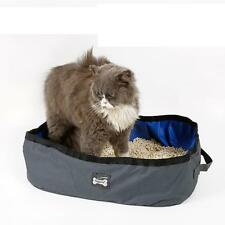 Portable Cat Litter Box Travel Kitty Toilet Seat Tray Easy to Clean Collapsible