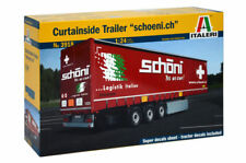 Italeri Curtainside Trailer Schöni Switzerland 1:24 Kit Model Set Art 3918