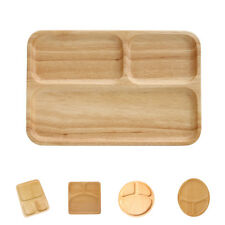Wooden Serving Tray Dinner Plate Snacks Fruits Dish Tableware Round Suqare