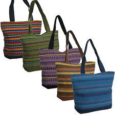 Handwoven Panel Weave Shoulder Bag from Guatemala Fair Trade Multiple Colors