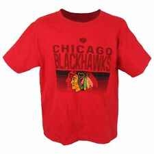 NWT Old Time Hockey Chicago Blackhawks Logo Red Youth Tee Cotton NHL Official