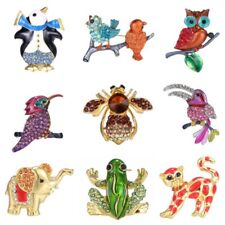 Fashion Christmas Bird Frog Cat Lovely Animal Crystal Brooch Pin Jewelry Party
