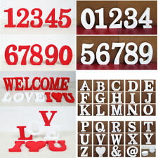 2 Color 26 Wooden Free Standing Letters Alphabet Wedding Home Shop Decoration