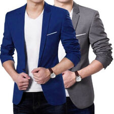 Newest 2018 Mens Casual Slim Fit Formal One Button Suit Blazer Coat Jacket Tops