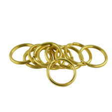10x Brass Round Split Ring Key Chain Jewelry Clasps Loop Findings DIY 25mm 35mm