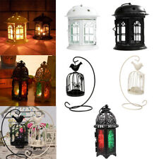 Metal Glass Lantern Vintage Candle Tea Light Holder Wedding Venue Decoration