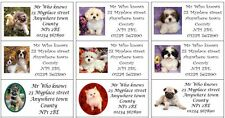 48 Large Personalised Return Address labels stickers-puppies kittens dogs cats
