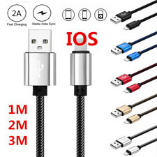 3/6/10FT Over 2A Strong Braided Sync Data Charger Cable For iPhone 5 6s 7 8 Plus