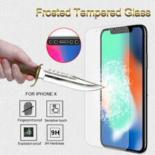 Premium Frosted Matte Tempered Glass Screen Protector Guard Film For iPhone X