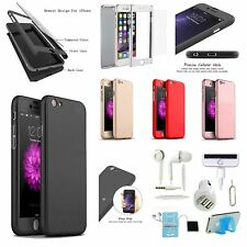 7 x Hybird Simple Scrub Full Case Cover Charger iPhone X 8/8 Plus 5S 6S 7 Plus