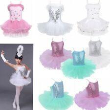 Kids Girl Leotard Ballet Dance Dress Child Gymnastics Unitards Swan Tops Costume