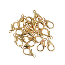 20pcs Lobster Clasps Gold/Silver Plated 18mm Jewellery Making Findings Fasteners