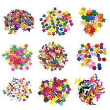 100pcs Colorful Flower Heart Round Buttons Wood Sewing Buttons DIY Scrapbooking