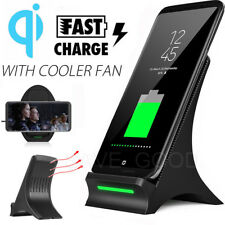 Qi Wireless Fast Charger Charging Stand Dock For Samsung Galaxy S9 Plus S7 edge