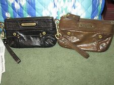 $98 JUICY COUTURE Genuine LEATHER Black or Brown CHARGE IT Cell Phone WRISTLET