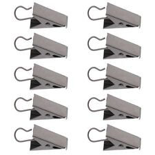 10 x Stainless Curtain Clips with Hook Shower Curtain Panel Catcher Hook Clips