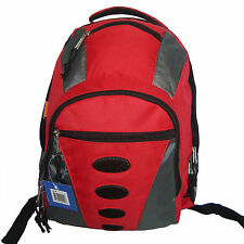 "Wholesale Lot Red 24pcs 17"" Travel Backpack School Bag Day Pack Book Bag LM160"